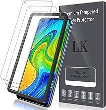 LK Compatible avec Xiaomi Redmi Note 9 Verre Trempé, 3 Pièces,Protection écran,Cadre d'installation Facile,Dureté 9H,Protection d'écran Verre Trempe Vitre