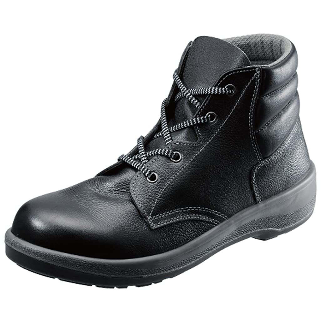 旅行者遠い何もない[シモン] 【7522黒】中編上靴 履きやすさ、快適さを追求しつづけるロングセラー安全靴 先芯はACM樹脂 ゆとり設計の靴底採用