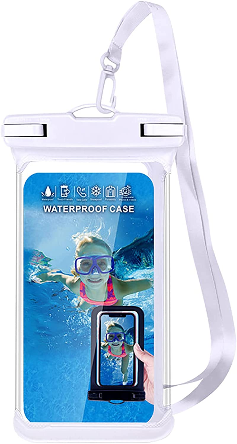 Anjing Cell Phone Dry Bags Floating Phone Pouch Waterproof Case Keep Your Phone and Valuables Safe and Dry IPX8 Cellphone Dry Bag