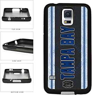 BleuReign(TM) Hockey Team Hashtag Tampa Bay #TampaBay TPU RUBBER SILICONE Phone Case Back Cover For Samsung Galaxy S5