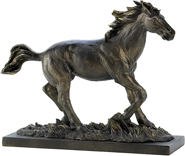 Gifts Decor Wild Stallion Galloping Horse Figure Statue Home Decor