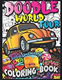 Doodle World Tour Coloring Book: a Cute Kawaii Doodle Coloring Book for Kids, Teens and Adults Who Love to Color.(30 Kawaii Doodle Illustrations) with Cities, Countries, Famous Places, Food and More!