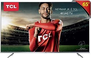 "Smart TV LED 65"" Ultra HD 4K HDR com Wifi integrado 3 HDMI 2 USB, TCL 65P6US, Prata"