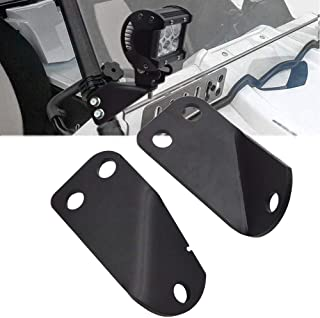 DaSen Right & Left Side Pillar Roll Bar Cage Mounting Brackets For LED Work Lights Fits 2016 2017 2018 2019 Yamaha YXZ 1000R