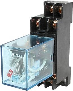 URBEST HH52P DYF08A Plastic Coil DPDT Black Clear Blue110/120V AC 8 Terminals Electromagnetic Relay w Base