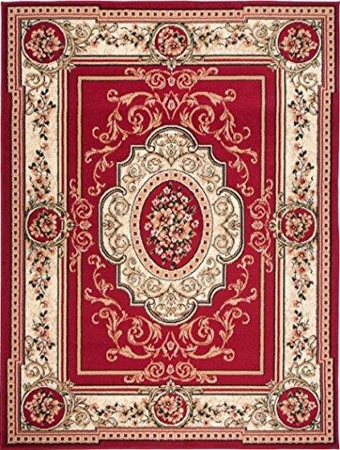 Carpeto Orientteppich Teppich Rot 300 x 400 cm Medaillon Muster Kurzflor Verona Kollektion