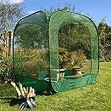 Funda para plantas con red antipájaros para jardín y jardineras elevadas | Cobertura vegetal para el cultivo de frutas, hierbas, flores y verduras | 1,25 x 1,25 x 1,35 m