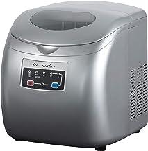 WOLTU EM03sb Machine à glaçons 12kg réservoir d'eau de 2,8 litres,Ice Maker Machine à Glace 120W,Argent