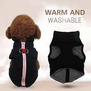 Decdeal Dog Autumn&winter Cotton Vest Pet Coat Dog Jacket Winter Dog Pet Jacket Vest Warm Pet Outfit Clothes Cozy Design Puppy Warm Vest