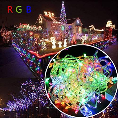 Luces navideñas 10M 20M 30M 50M 100M Led String Fairy Light 8 Modos Luces navideñas para guirnaldas de Banquete de Boda Luces Decorativas - Multicolor, 10M 100LEDs 110V EE. UU.