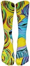 gfhfdjhf Swirls Lion Howl Athletic Tube Stockings Women's Men's Classics Knee High Socks Sport Long Sock One Size