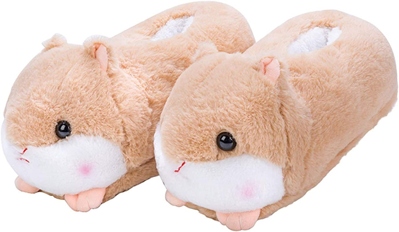 LANFIRE Animal slippers hamster slippers pig slippers duck and sheep shoes winter home warm anti - skid cotton slippers