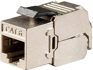 MonopriceEntegrade Series Cat6 RJ-45 FTP Toolless 180-Degree Slim Style Keystone Jack, Black 115972