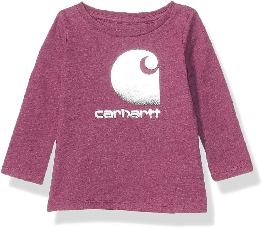 Carhartt Baby Girls' Long Phoenix Mall Indefinitely Logo Sleeve Tee T-Shirt