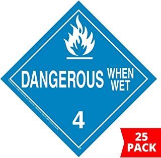 dangerous when wet placard