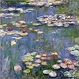 Poster 13 x 13 cm: Seerosen von Claude Monet - hochwertiger