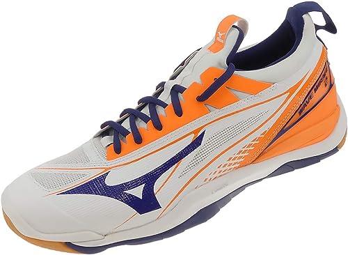 Mizuno - Hauszapatos de Balonmano de Sintético para Hombre Weiss azul naranja