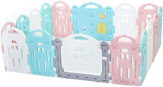 Playpen Baby Safety Fence - 16 Panel - Portable Play Yard - Large Indoor/Outdoor Plastic Play Pen (No balls)