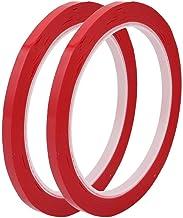 DealMux 2 stuks 5mm breedte 100ft lengte enkelzijdig elektrisch geïsoleerd plakband rood