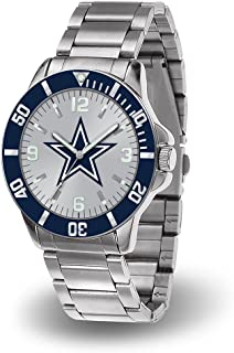 NFL Dallas Cowboys Key Watch with Stainless Steel Band and Team Logo