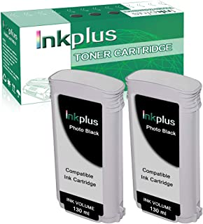 InkPlus Remanufactured CR355A Ink Cartridge Replacement for HP Designjet T920 Printer Ink Cartridge - 2 Packs Photo Black