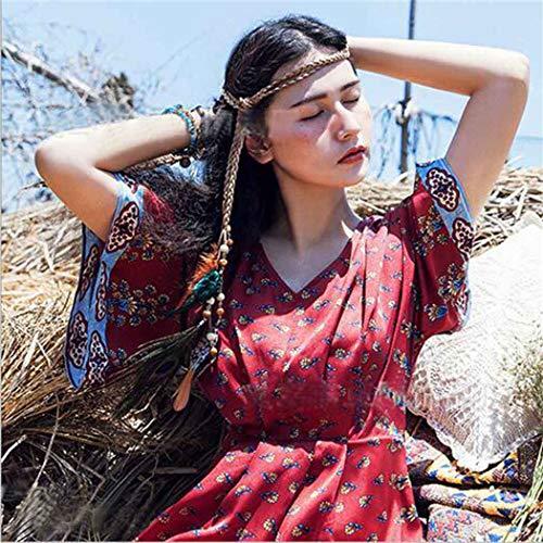 Simsly Boho Feder Stirnband Hippie Indisches Kopfstück 1920er Jahre Feder Kopfkette Haarschmuck Zubehör Kopfschmuck für Damen und Mädchen (Style 2)