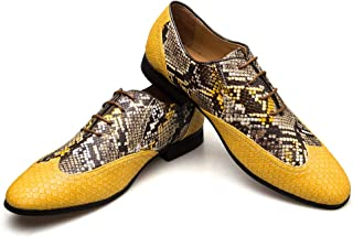 mens yellow oxford shoes
