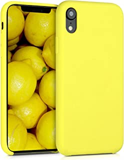 kwmobile Funda Compatible con Apple iPhone XR - Carcasa de TPU para móvil - Cover Trasero en Amarillo neón