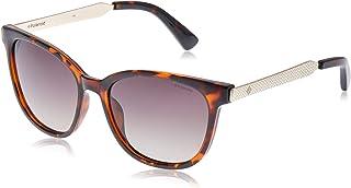 Polaroid Women's PLD 5015/S 94 Sunglasses, Dark Havana Light Gold, 55