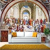 MINCOCO Pinturas murales clásicas de Europa occidental famoso fondo de pantalla Fondo de hotel de Roma, 400x280 cm (157.5 by 110.2 in)