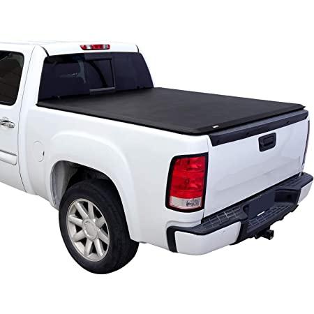 Amazon Basics Soft Roll Up Tonneau Cover for 2002-2018 Dodge Ram 1500, 2003-2018 Dodge Ram 2500 3500, Fleetside 6.5' Bed without Ram Box