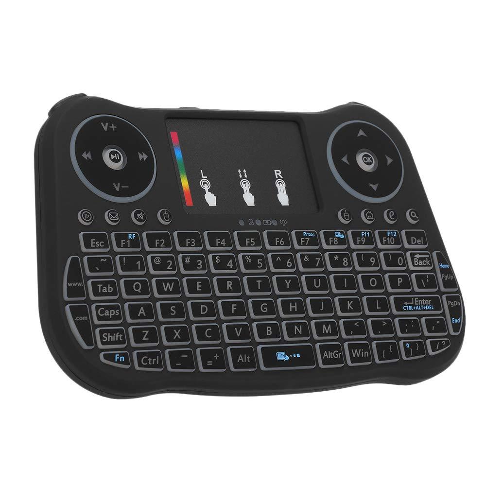 Festnight - Teclado inalámbrico de 2,4 GHz con Panel táctil, Mando a Distancia, 4 Colores, iluminación de Fondo, luz de respiración, para Android TV Box Smart TV PC Notebook: Amazon.es: Electrónica