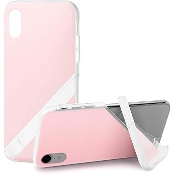 カンピーノ campino スマホケース iPhone XRケース パステル OLE stand スタンド機能 耐衝撃 スリム 薄型 ベビーピンク 桃