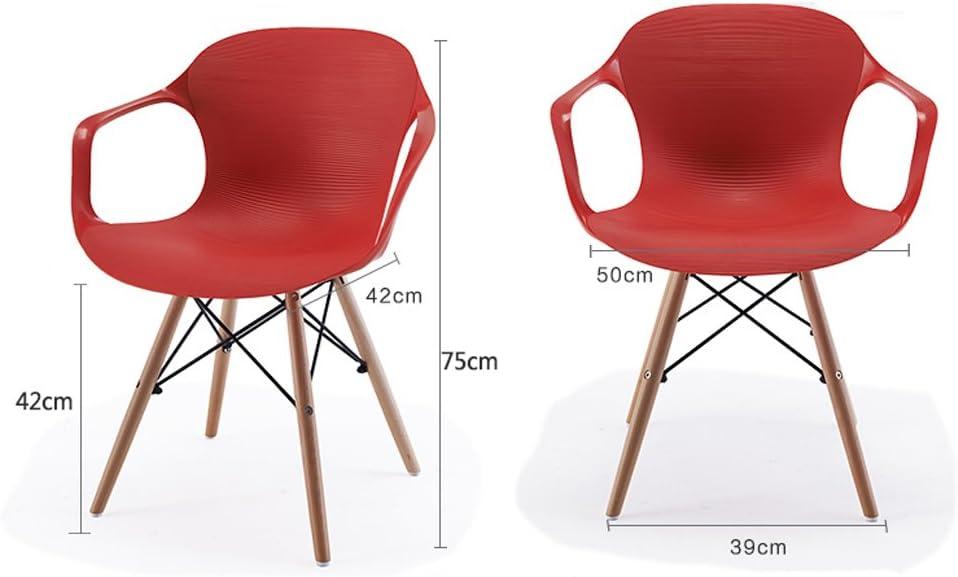 HXF- Accueil Chaise à Manger Chaise Moderne Loisirs Chaise créative Retour Fauteuil en Plastique Durable (Color : B) A