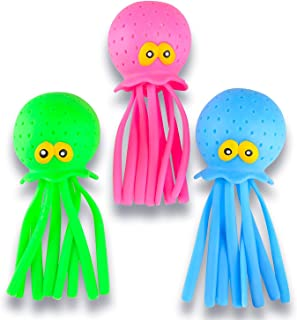 ArtCreativity Octopus Water Balls, Set of 3, Rubber Kids' Bath Toys, Sensory Stress Relief Pool Toys for Kids, Cute Goodie...
