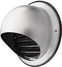 Grille D/'extraction Ronde en Aluminium Avec Moustiquaire Klimapartner WSGR 125