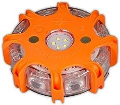 Powerflare Plus oranje LED signaallicht incl. oplader