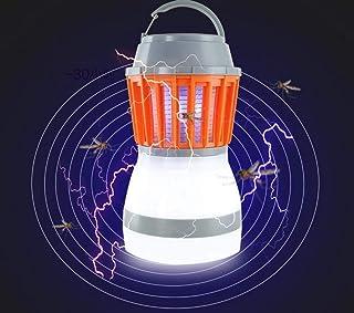WJMLS Mosquito Killer Lamp Bug Zapper Luz para Acampar al Aire Libre 2 en 1 Insecto electrónico Killer UV Mosquito Trap Carpa Recargable Linterna
