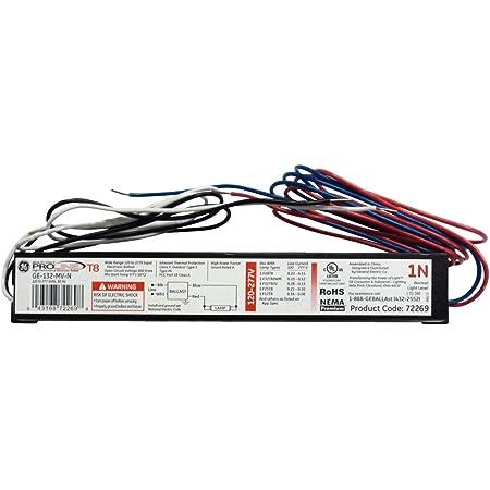 Amazon.com: GE UltraMax Proline Electronic Ballast, 120/277 Volt Instant  Start Ballast, Normal Ballast Factor, Ballast for Fluorescent Light (1)  Lamp T8, Compatible with F32T8/WM, F17T8, F28T8: Home Improvement | Ge T8 Electronic Ballast Wiring Schematic |  | Amazon.com