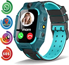 Kids Smart Watch Phone for Boys Girls Toddler Age 3-12 with GPS Tracker Dial Call SOS Camera Flashlight 1.54'' Touch Screen Math Game Alarm Clock Electronic Fence Gizmo Watch Students Birthday Gifts