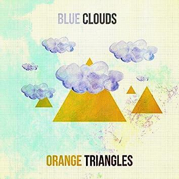 Blue Clouds & Orange Triangles