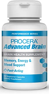 Procera Advanced Brain - 3-in-1 Nootropic Brain Supplement | Memory & Mood Support w/Energy Vitamins | Ashwagandha, Rhodio...