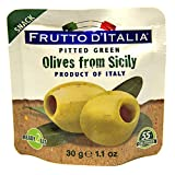 Frutto d'Italia Green Pitted Olives in Pouch, 1.1 Ounce (Pack of 10)...