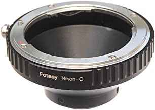 Fotasy NK Lens to C Mount Adapter, Nikon F Mount Lens to 16mm Cine Mount Adapter, Compatible with Cine Movie Making System/C Mount CCTV Camera/C-Mount Microscope Cameras