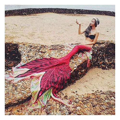 Costume da Bagno della Sirena dei Bambini, Coda A Sirena per Ragazza Bikini, Coda A Sirena per Ragazze, Nuoto Estivo(Color:Style-1)