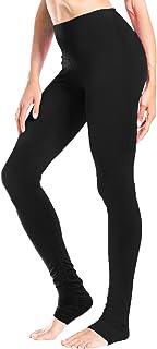 """Yogipace Women's 34"""" Inseam High Rise Goddess Extra Long Leggings Yoga Over The Heel Legging Black Size M"""