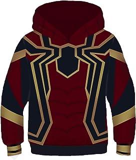 Kids Iron Spider-man Spider-Man: Homecoming Cosplay Sweater Hoodie Fashion 3D Printing Sweatshirt Boys Spiderman Pullover ...