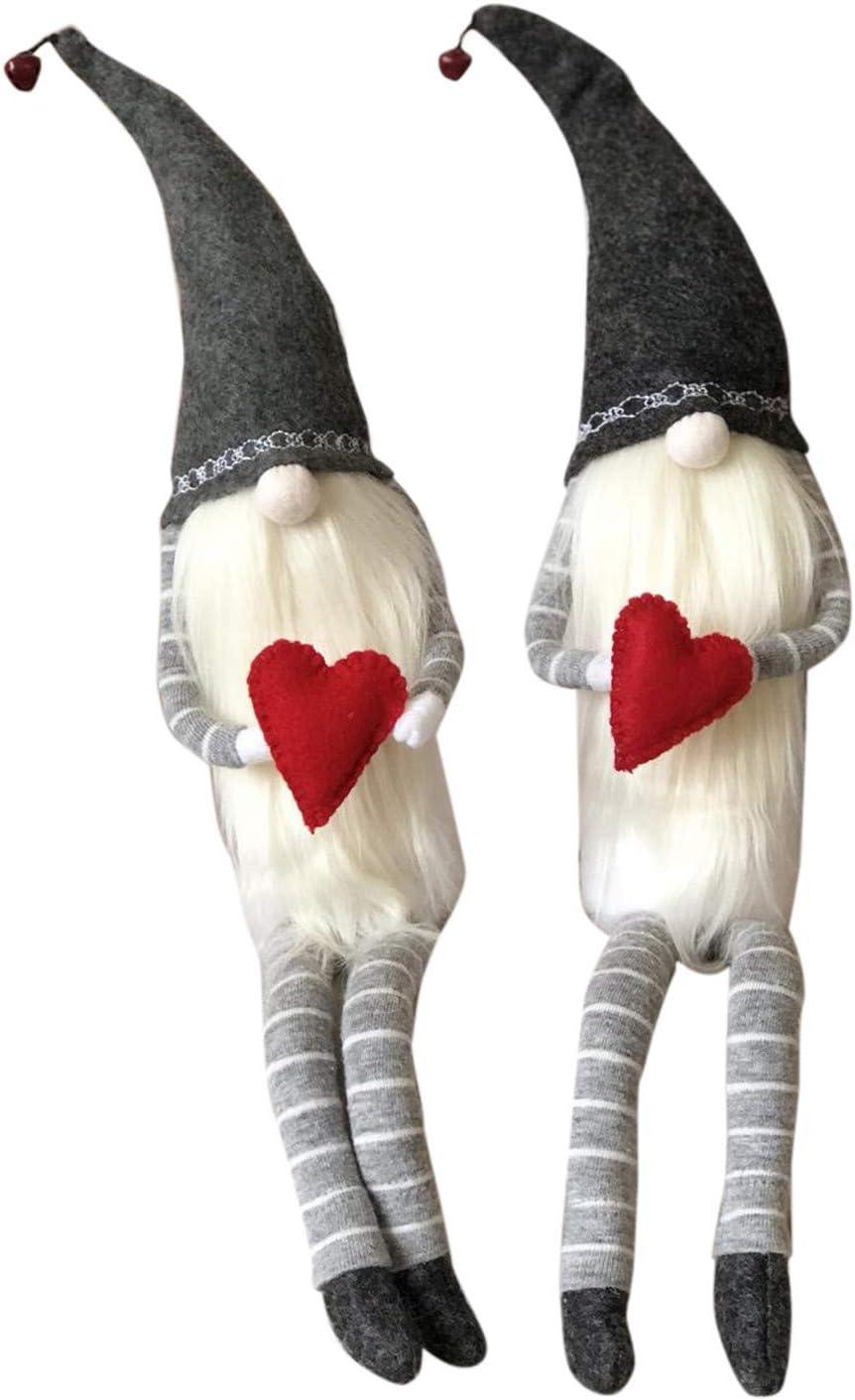 SSYongxia 2PCS Plush Gnome Faceless Doll Decoration Room Plush L