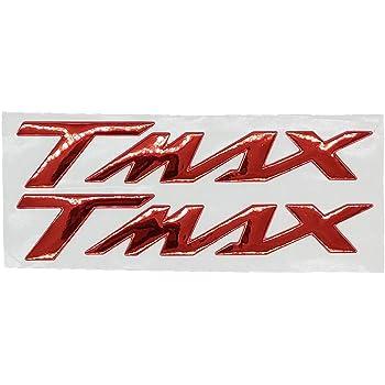 ONE by CAMAMOTO CP Pareja Adhesivos//Pegatinas en Resina 3D TMAX escribe Color Dorado Compatible con Yamaha T-MAX 500//530
