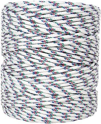Cofan 08101102 Bobina de cordón trenzado con polipropileno, Tricolor, 5 mm x 200 m